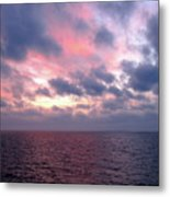 Pink And Blue Sunset In The Black Sea Metal Print
