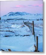 Pink And Blue Sunset Metal Print