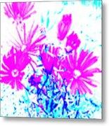 Pink And Blues Metal Print