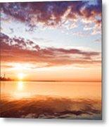 Pink And Gold Morning Zen - Toronto Skyline Impressions Metal Print