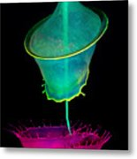 Pink And Green Composition Metal Print