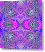 Pink And Purple Metal Print