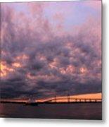 Pink And Purple Sunset Metal Print