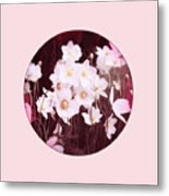 Pink And White Anemones Metal Print