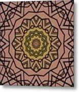 Pink And Yellow Kaleidoscope 1 Metal Print