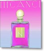 Pink Art Deco Perfume Metal Print