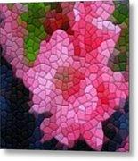 Pink Azaleas Metal Print