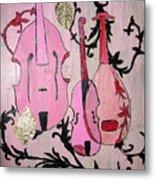 Pink Baroque Metal Print