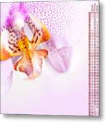 Pink Blotchy Orchid Calendar 2016 Metal Print
