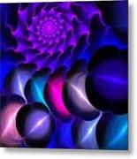 Pink Blue Bubbles Metal Print