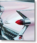 Pink Cadillac Eldorado Tail Fin Metal Print