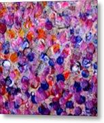 Pink California Splatter Map Metal Print