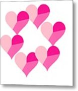 Pink Candy Hearts Metal Print