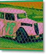 Pink Car Metal Print