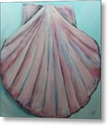 Pink Clam Shell Metal Print