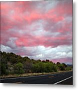 Pink Clouds Over Arizona Metal Print