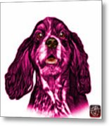 Pink Cocker Spaniel Pop Art - 8249 - Wb Metal Print
