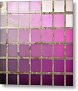 Pink Color Chart Metal Print