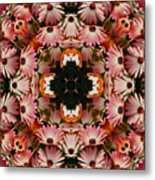 Pink Daisies Kaleidoscope Metal Print