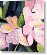 Pink Dancing Flowers Metal Print