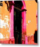 Pink Door 1 By Darian Day Metal Print