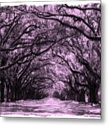 Pink Dream World With White Framing Metal Print