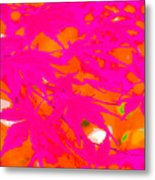 Pink Equalized Metal Print
