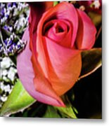 Pink Eye Rose Metal Print