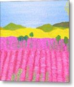 Pink Field Metal Print