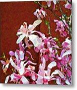Pink Floral Arrangement Metal Print
