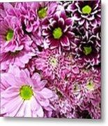 Pink Flower Carpet Metal Print