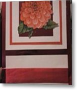 Pink Flower Greeting Card Metal Print
