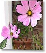 Pink Flowers Of Summer Metal Print