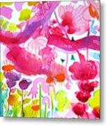 Pink Garden Tree Metal Print