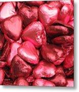 Pink Heart Chocolates I Metal Print