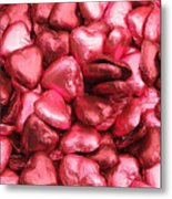 Pink Heart Chocolates II Metal Print