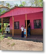 Pink House In Costa Rica Metal Print