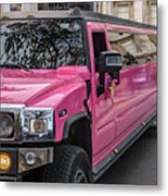 Pink Hummer At Trafalgar Metal Print