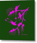 Pink Hummingbirds Metal Print