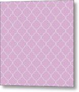 Pink Lavender Quatrefoil Metal Print