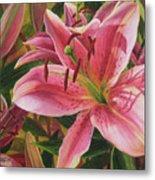 Pink Liliums Metal Print