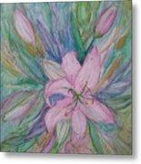 Pink Lily- Painting Metal Print