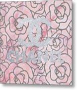 Pink Marble Chanel Metal Print