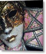 Pink Mask Metal Print