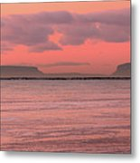 Pink Morning In The Bay Of Thunder Metal Print