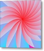Pink Passion Flower Metal Print