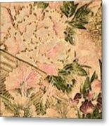 Pink Peonies - Kimono Series Metal Print