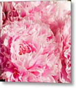 Pink Peony Bouquet Metal Print