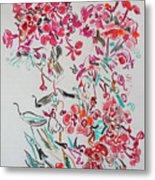 Pink Phloxes Metal Print