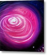 Pink Planet With Diffusing Atmosphere Metal Print